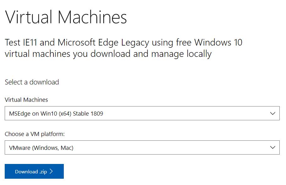 免费下载 Windows 10 正版虚拟机镜像